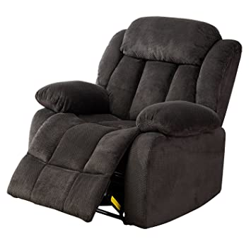 BONZY Oversized Recliner Chair Microfiber Cover Living Room Lounge Chair    Dark Blue