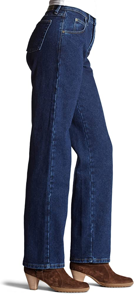 womens Jeans-relaxed fit-classic rise great comfortable jeans 100/% Cotton Blue