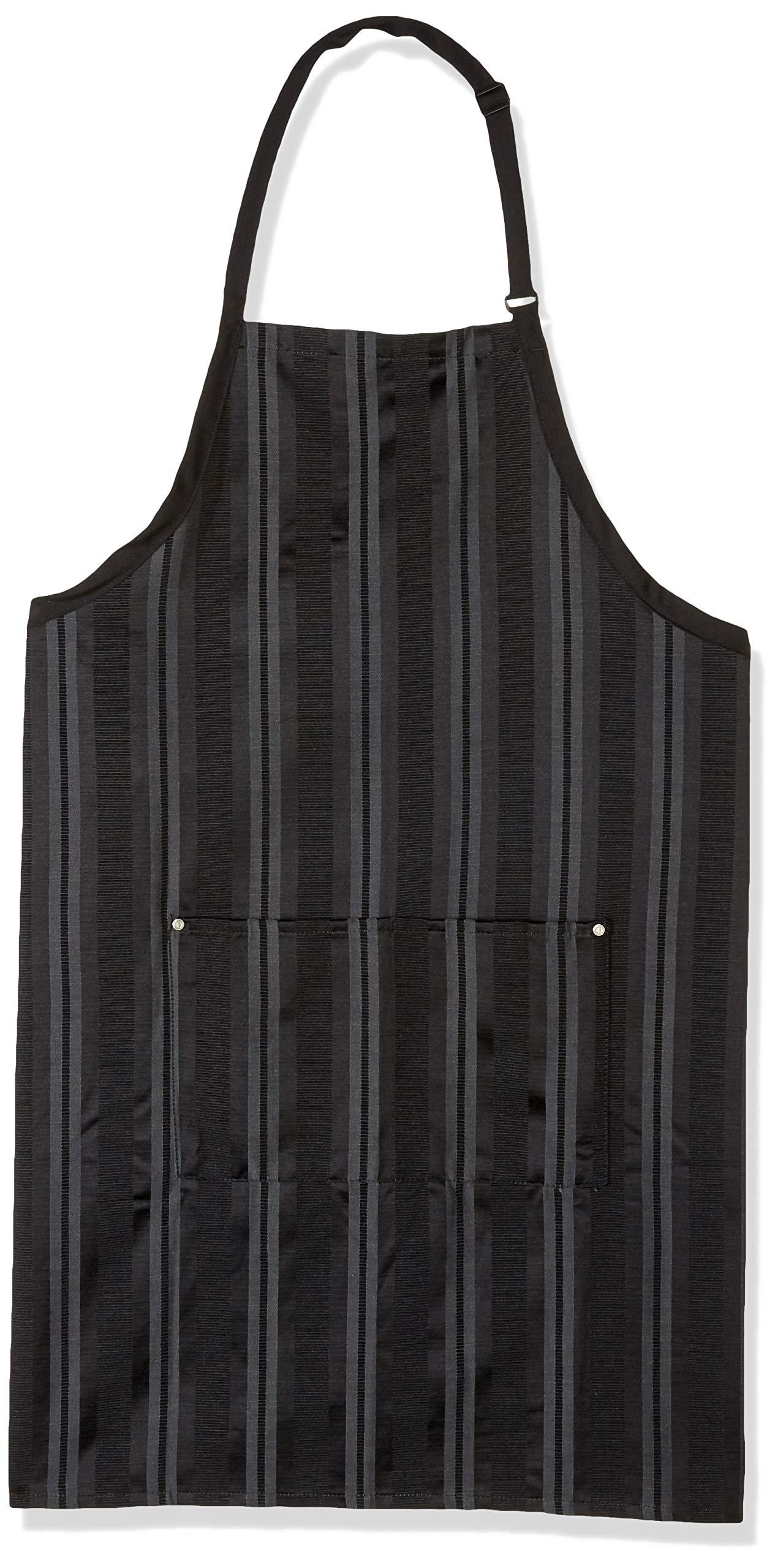 Chef Works Unisex Presdio Bib Apron, Black/Gray, One Size by Chef Works