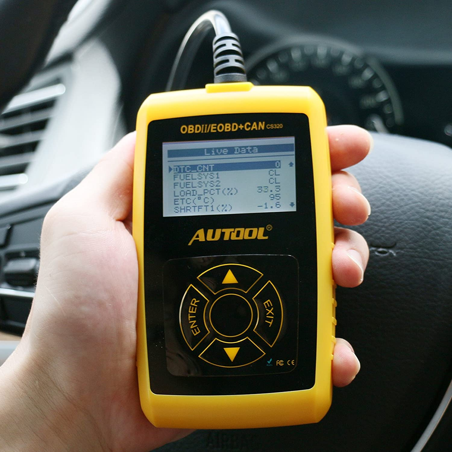Car Diagnostic Tool,AUTOOL 12V OBDII Fault Code Read Erase Tester for  Engine-O2 Sensor EVAP EGR