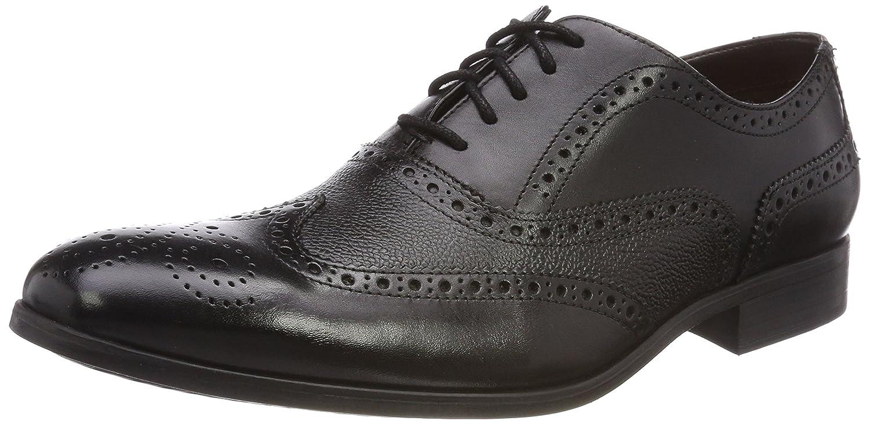 Clarks Gilmore Limit, Zapatos de Cordones Brogue para Hombre 41 EU Negro (Black Leather)