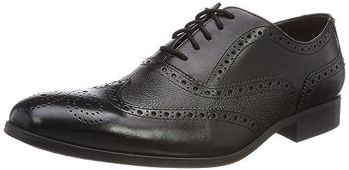 Clarks Gilmore Limit, Zapatos de Cordones Brogue para Hombre, Marrón (Tan Leather), 40 EU