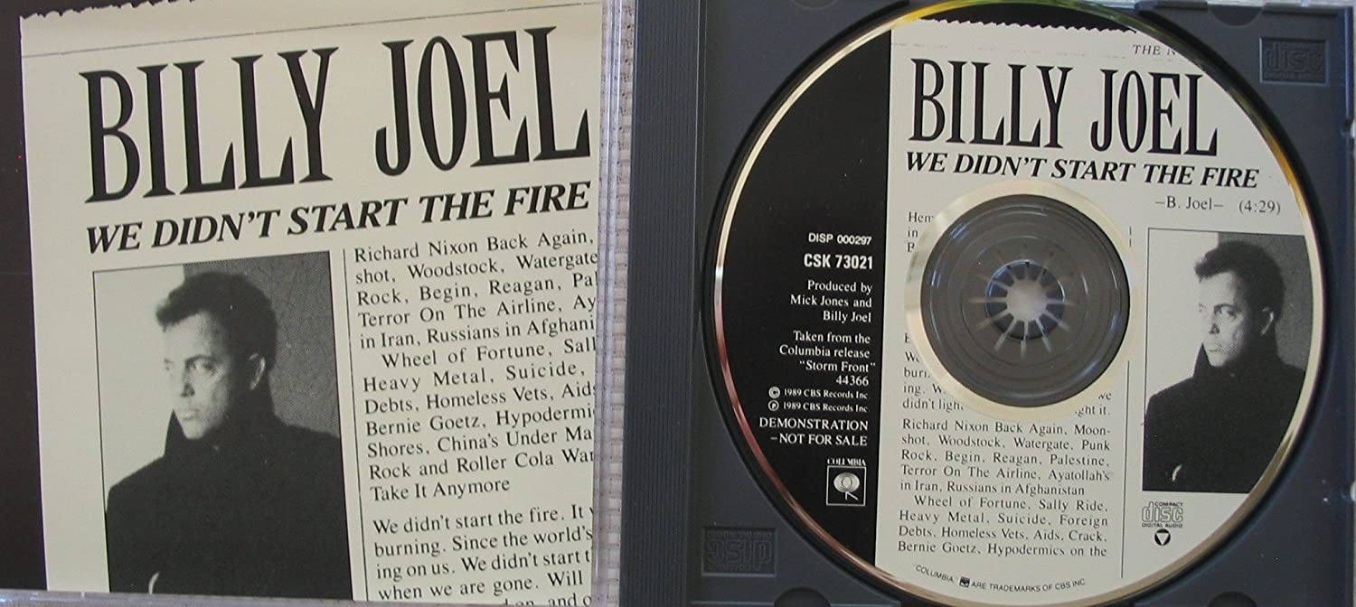 Image result for billy joel we didn't start the fire images