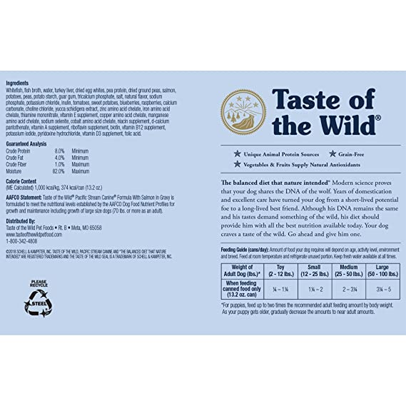 Taste Of The Wild Dog Food Reviews >> Taste Of The Wild Canned Dog Food For All Lifestages Pacific
