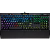 Corsair K70 RGB MK.2 Clavier Mécanique Gaming (Cherry MX Silent: Lisse et silencieux, Rétro-Éclairage RGB Multicolore, AZERTY FR Layout) - Noir