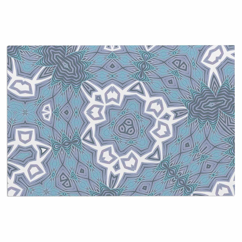 Kess InHouse Alison Coxon Tribal Air Blue White Decorative Door 2 x 3 Floor Mat