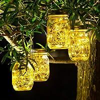 4 Pack Luz Solar Exterior - 30 LED Lamparas Solares de Jardin IP65 Impermeable Luces…