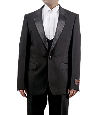 d7b584a2ec Mens 3 Pc Black Tuxedo Includes Tuxedo Jacket, Pants and Vest (40S). Roll  over image to zoom in. New Era Factory Outlet