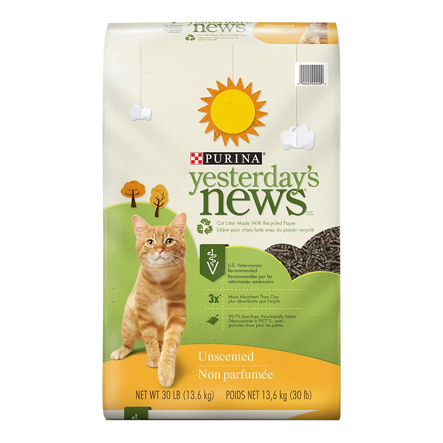 2.Purina Yesterday's News Unscented Cat Litter