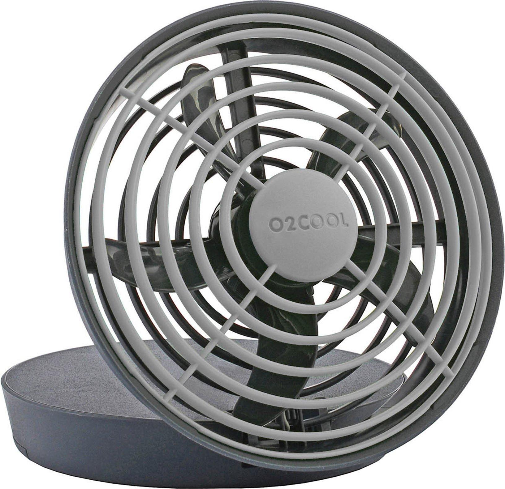 O2COOL 5-Inch Portable USB Jet Fan,Grey