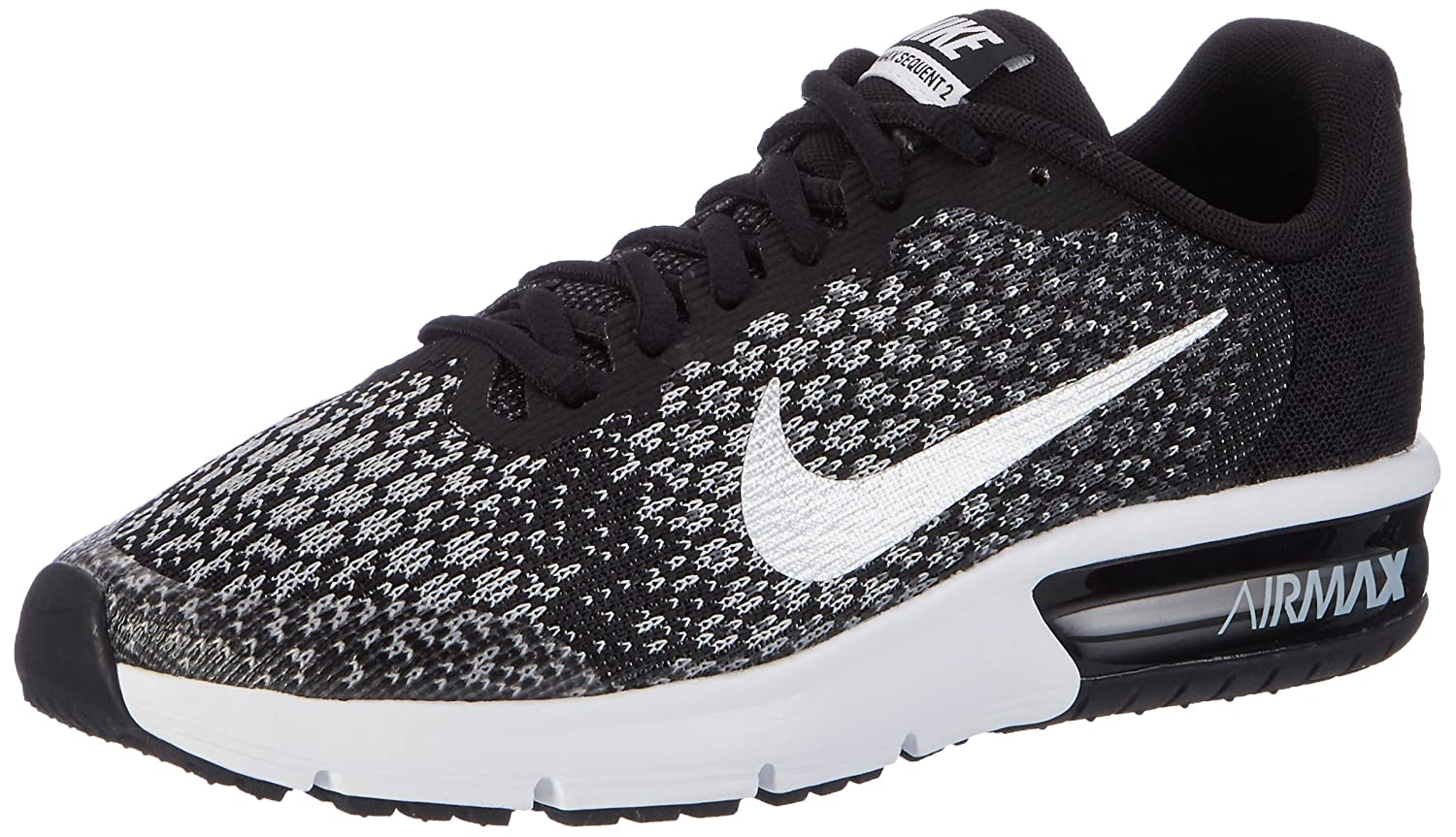 Nike Air Max Sequent 2 (GS), Zapatillas de Trail Running para Hombre 38 EU|Multicolor (Black/Metallic Silver/Dark Grey 001)