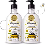 The Honeykeeper Cubby Cocoa Baby Body Lotion (14 Ounces), 2-Pack