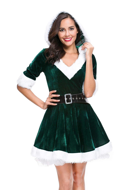 Amazon.com: Mr. Claus - Disfraz de Navidad con capucha para ...