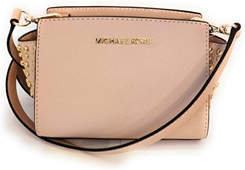 Michael Kors sac bandoulière Selma rose soft ballet Cuir 17x8x7cm neuf