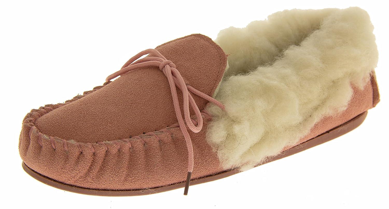Mocasines traje de neopreno para mujer Lodgemok REAL de lana para adornos de piel sintética y ante zapatos tamaño Zapatillas para puños con 3 4 5 6 7: ...