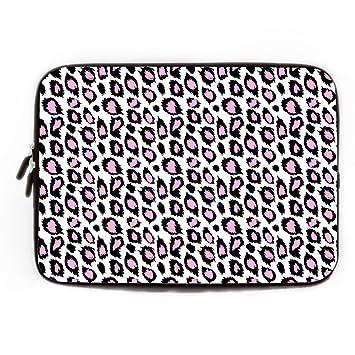 elvoes blanco rosa Leopardo 13 13.3 14 pulgadas portátil funda blanda para portátil maletín bolsa de