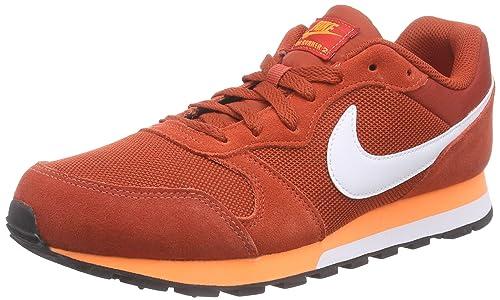top fashion 60c79 72aeb Nike Md Runner 2, Zapatillas de Running Hombre, Rojo (Cinnabar White-Total  Orange 618), 47  Amazon.es  Zapatos y complementos