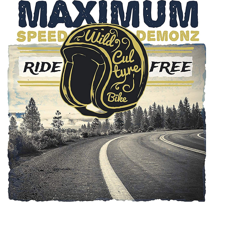 Maximum Speed Demonz Ride Free T-Shirt Modern Cool Tees for Men R65