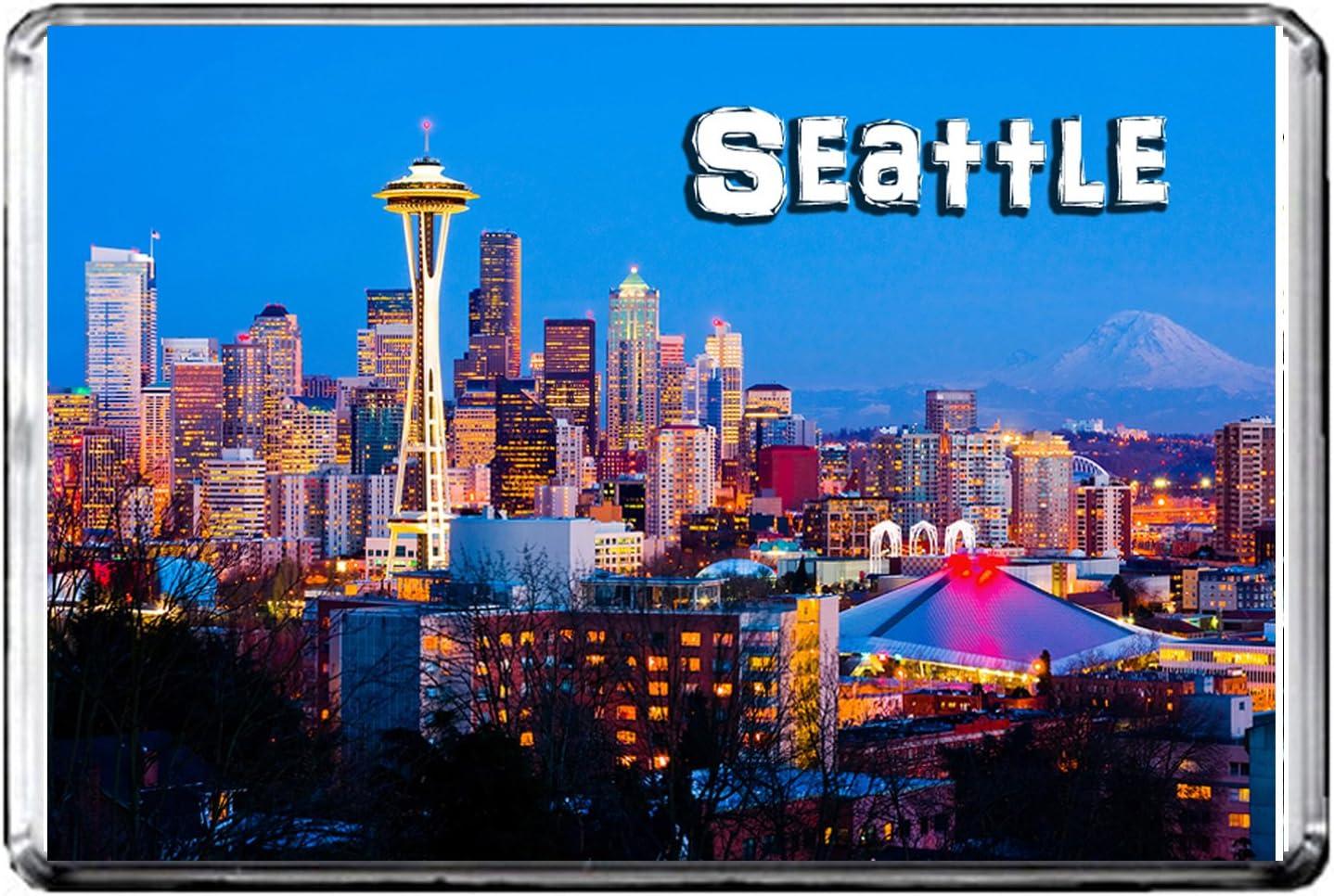 E204 Seattle Fridge Magnet USA Travel Photo Refrigerator Magnet