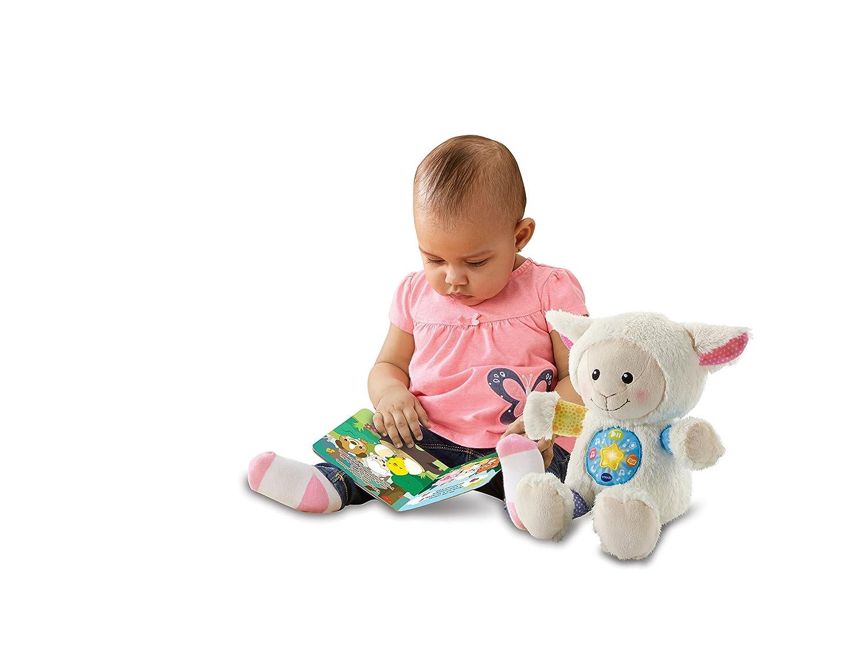VTech-80-506722 La pequeña Linda Musical, Peluche bebé Interactivo, con Cuentos Historias y Canciones Que desarrollan aspectos educativos lenguaje, ...