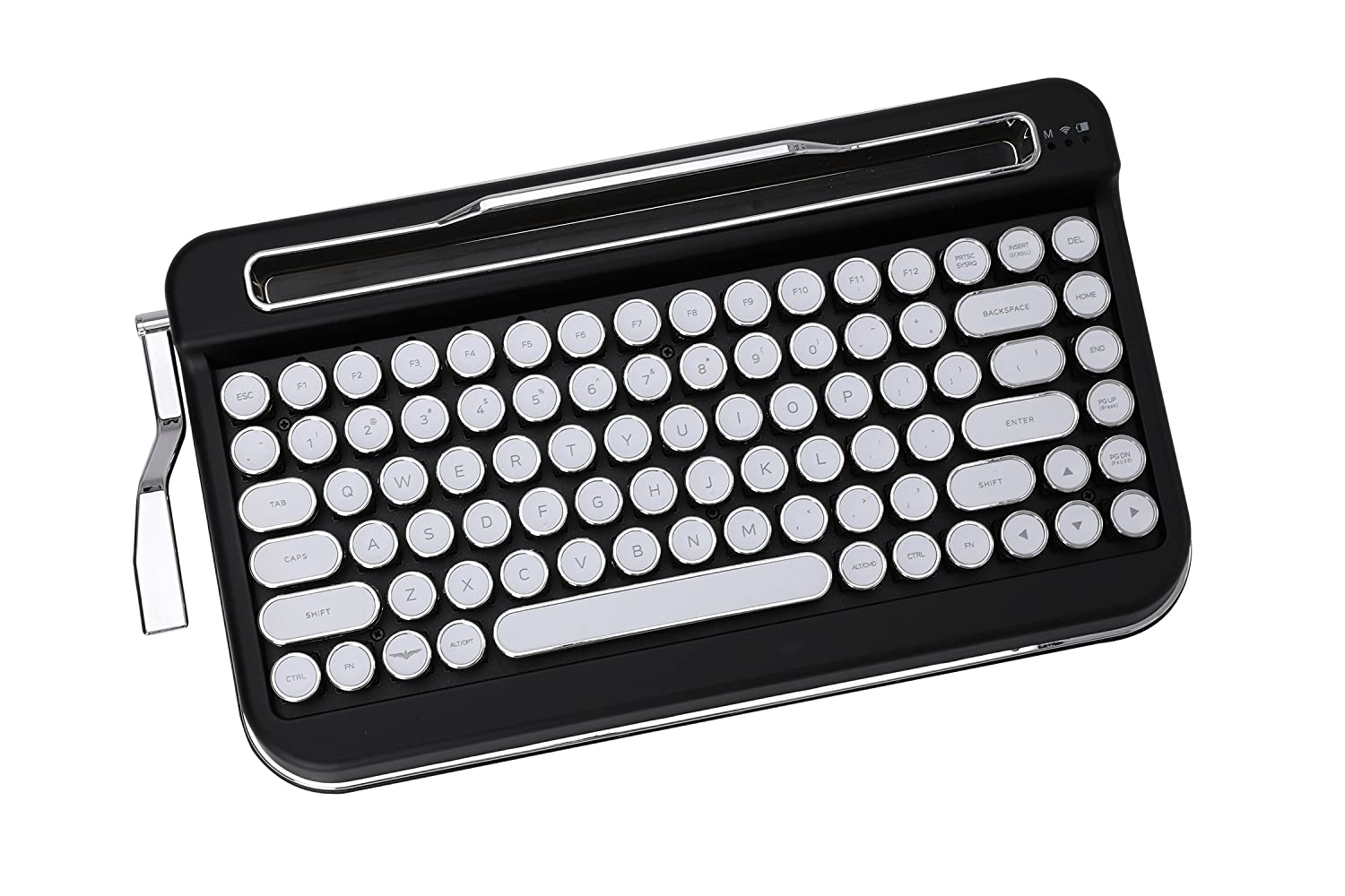 Amazon.com: Penna Bluetooth Keyboard with White Chrome Keycap(US Language) (Switch-Cherry Mx Brown, Matte Black): Computers & Accessories