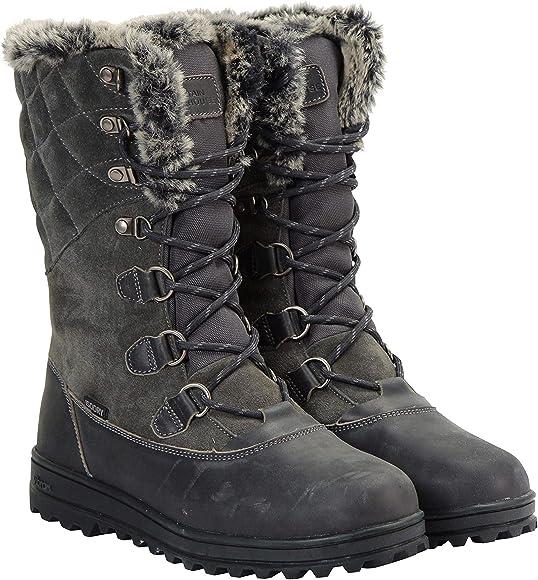 ladies black thermal winter boots uk