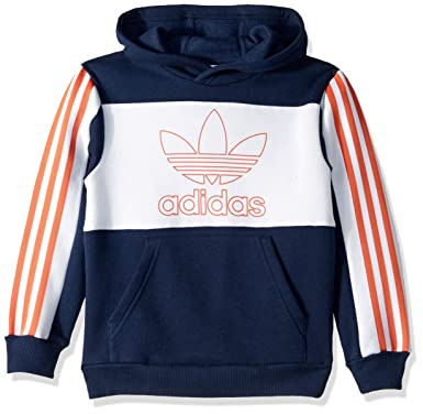 33833fbc667f Amazon.com: adidas Originals Boys' Big Outline Hoodie: Clothing