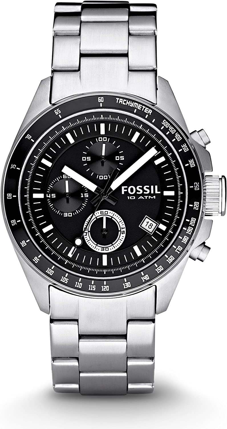 Fossil Men's Decker Chronograph Stainless Steel Watch