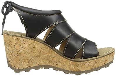 FLY London GOLA, Damen Plateau Sandalen mit Keilabsatz, Schwarz (Black  003), 40 EU: Amazon.de: Schuhe & Handtaschen