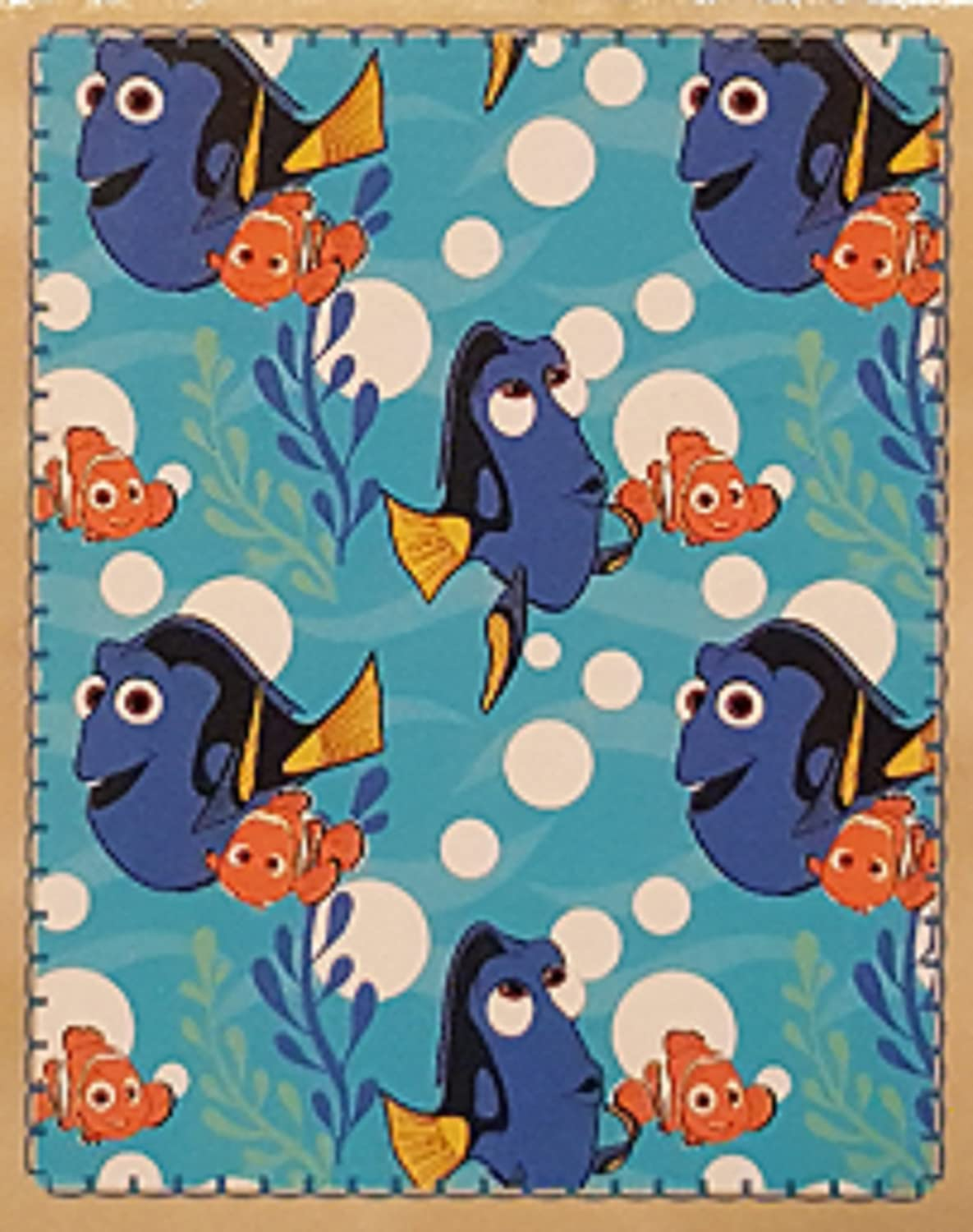 Disney Pixar Finding Dory Super Soft Throw Blanket Featuring Dory and Nemo B01M05VRIG