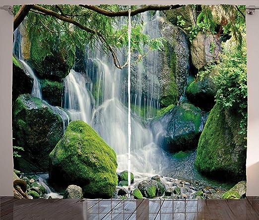 ABAKUHAUS Escena de la Naturaleza Cortinas, Cascada de Flujos de ...