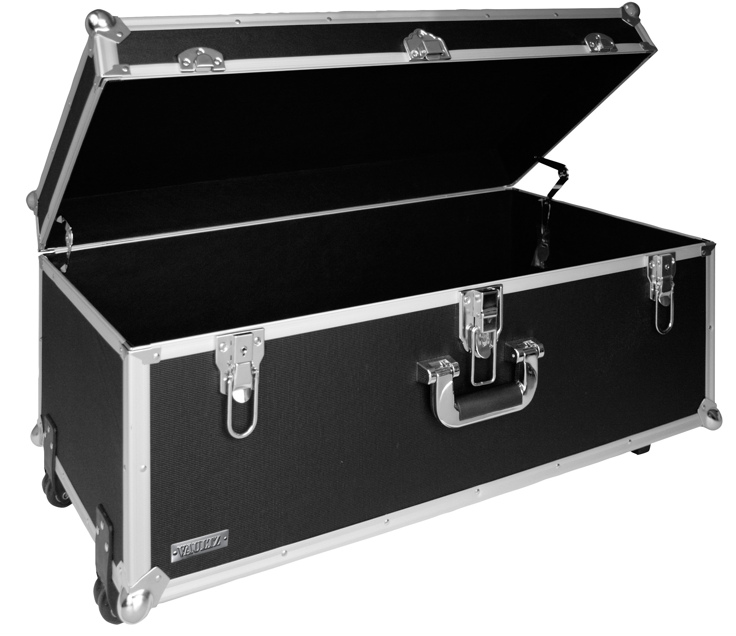 Vaultz 14 x 30 x 16 Inches Locking Extra-Large Storage Chest with Wheels, Black (VZ00355)