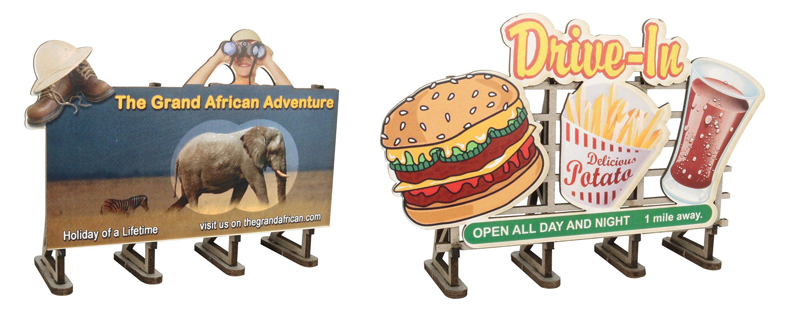 Bachmann Industries O Scale Billboard Kit (2 Pack)