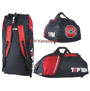 TOP TEN® Tasche Sporttasche Rucksack Kombitasche UFA MMA UFC Fighter Kickboxen