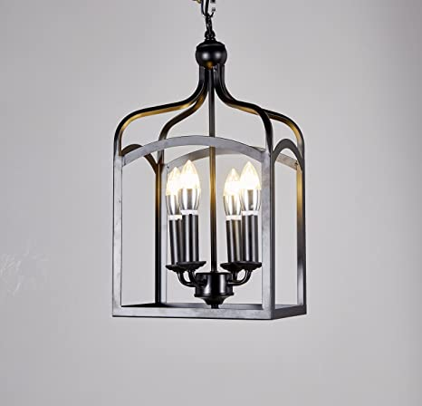 New galaxy lighting antique black finish 4 light hanging lantern new galaxy lighting antique black finish 4 light hanging lantern iron frame pedant chandelier aloadofball Images