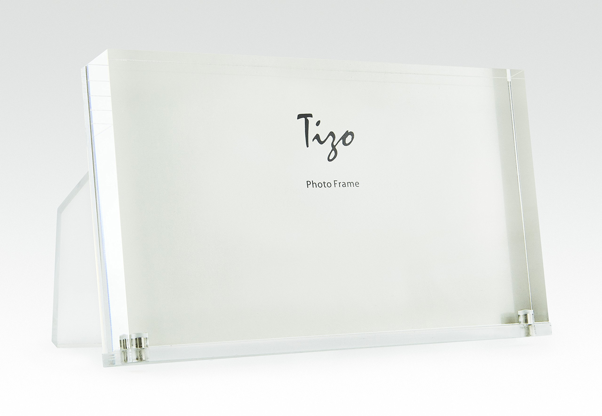 Tizo 6'' X 4'' Acrylic Crystal Clear Photo Frame, Made In Italy