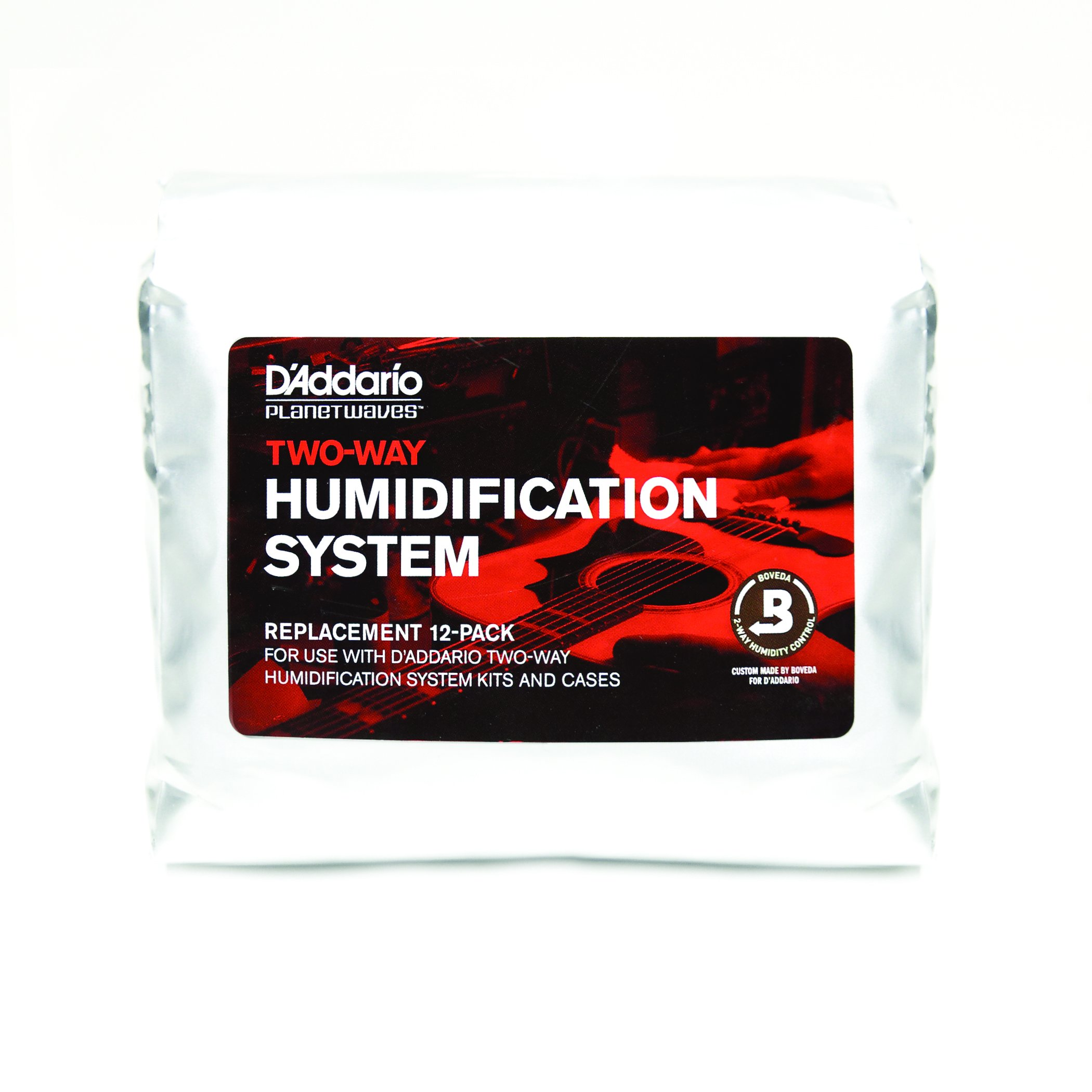 D'Addario Two-Way Humidification System Replacement Packets (12pk) – Automatically Adjusts to Maintain Ideal Humidity Level Within Guitar Case – Protects Instrument from Humidity Damage, Mess Free