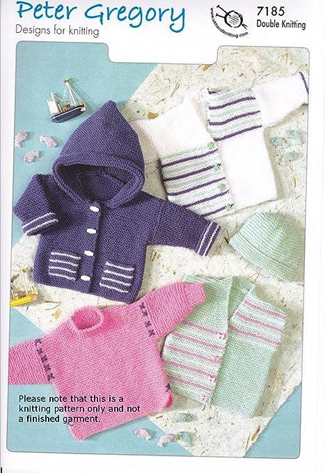 8ffe86efee01 Baby DK Knitting Pattern - PG 7185 Simple Garter Stitch Classics ...