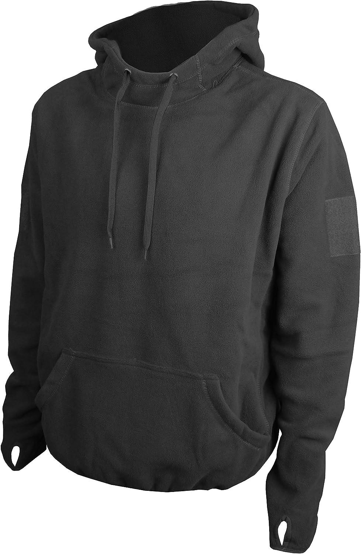 Savage Island Mens Windproof Tactical Fleece Recon Zip Hoodie