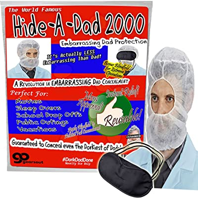 Gears Out Hide a Dad 2000 - Technology for Embarrassing Dads - Hide Your Dad Now - Perfect for Movies and Public Outings - Revolutionary Teen Technology - One Size Fits Most: Toys & Games