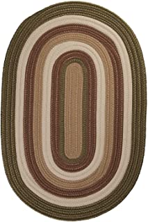 "product image for Colonial Mills Brooklyn Green Oval 5'0""x8'0"" Braided Area Rug"