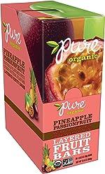 Pure Organic, Layered Fruit Bars, Pineapple Passionfruit, Gluten Free and Vegan