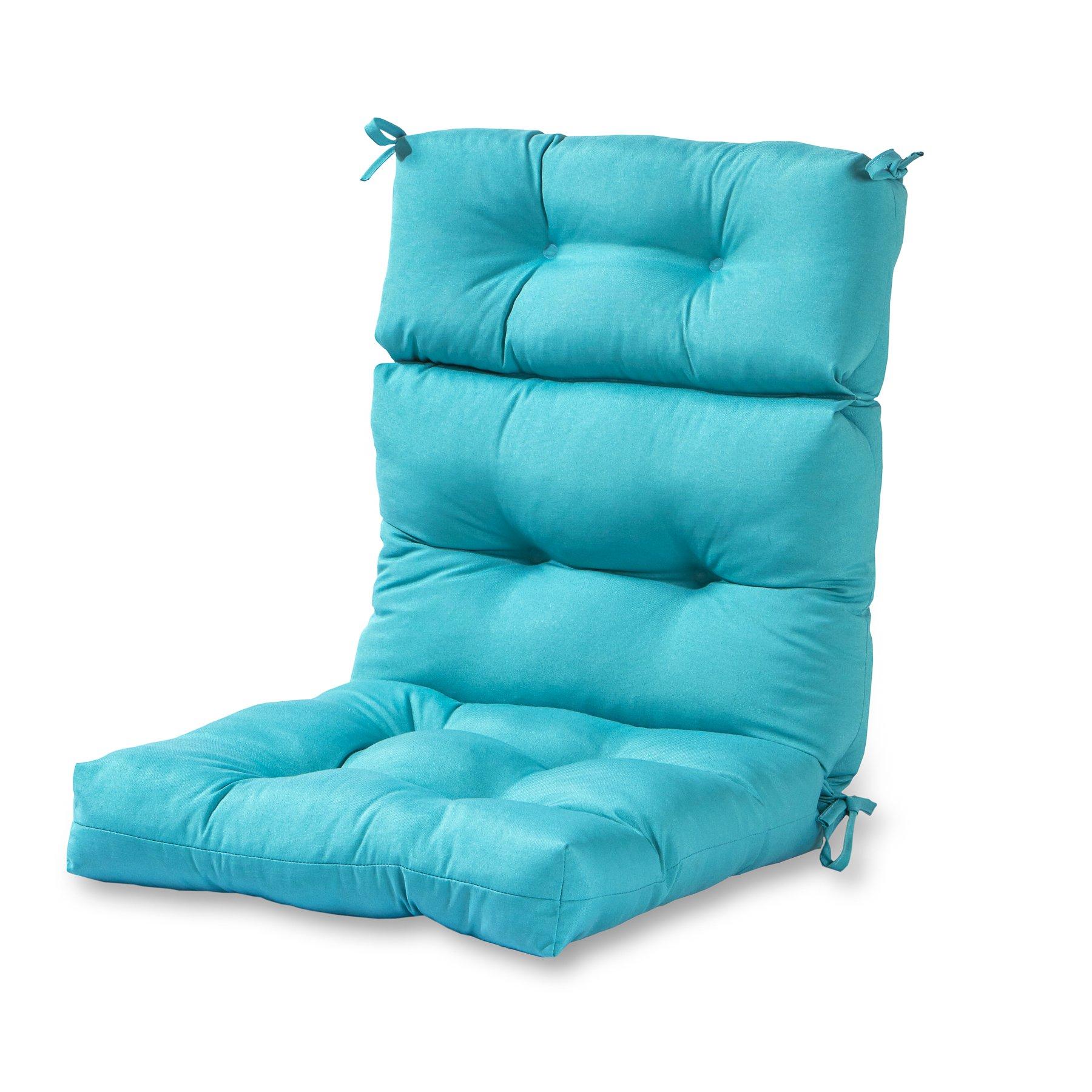 Greendale Home Fashions Outdoor High Back Chair Cushion, Teal