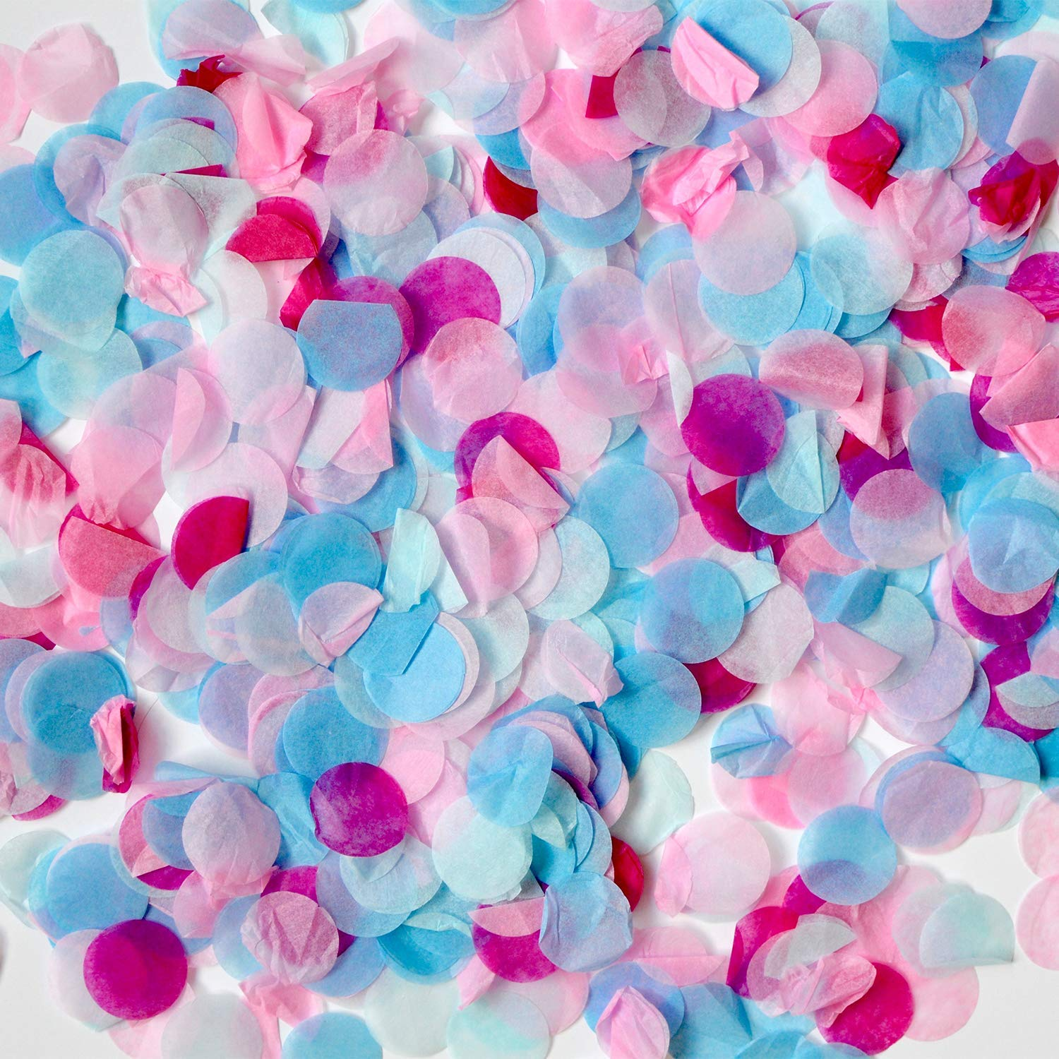 Easy Fill Perfect for Baby Showers Announcements Party All Day Supplies No Mess Surprises Vibrant Confetti 36 inches Large Gender Reveal Black Balloon with Pink and Blue Confetti Party Set with 30 Pcs Photo Props