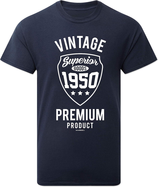 Premium Vintage Year T-Shirt 70th Birthday Gift Present for Men Him New