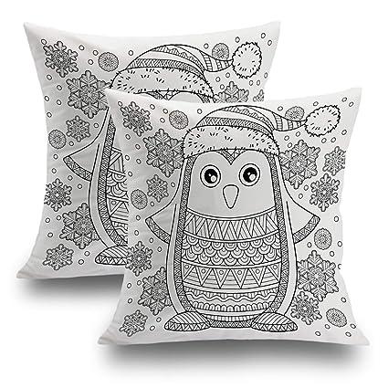 Amazon.com: Shrahala Christmas Pillow Covers, Decorative ...