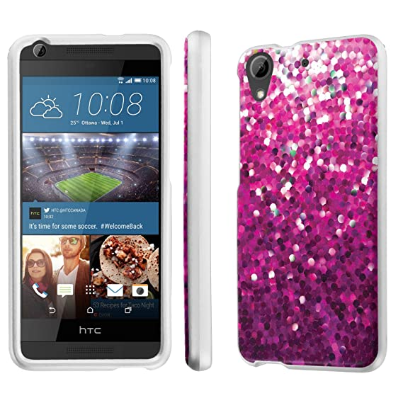 online store 4754e 67859 HTC Desire 626 / 626S Case, [NakedShield] [White] Total Armor Protection  Case - [Pink Glitter] for HTC Desire 626 / 626S