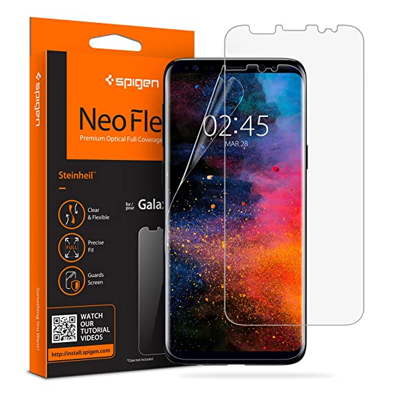the latest 5e836 06df0 Spigen NeoFlex Screen Protector Designed for Samsung Galaxy S9 (2018  Release) (2 Pack)