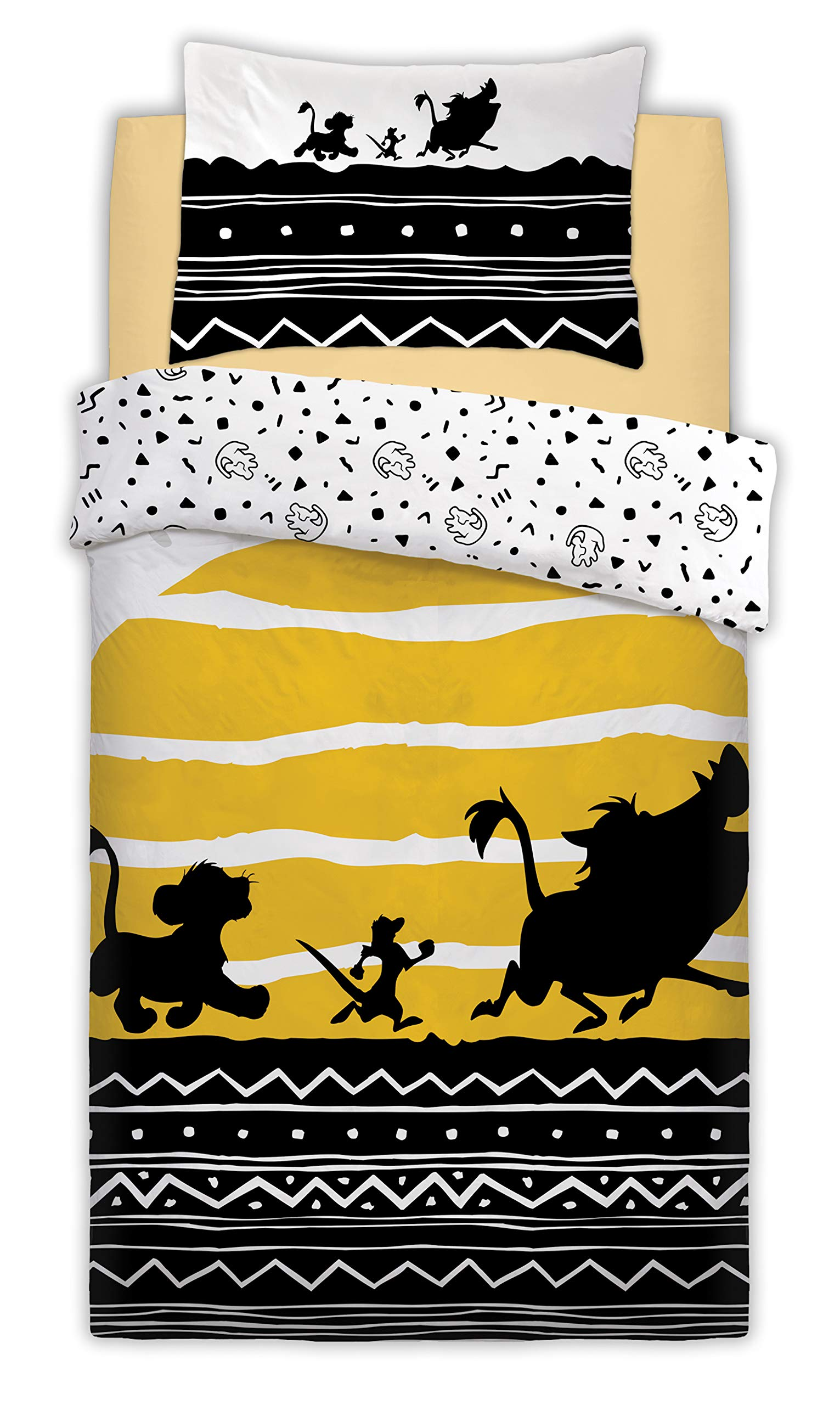 Disney The Lion King Tribal Sunrise Panel Single/Twin Bed Duvet Unfilled Quilt Cover Set