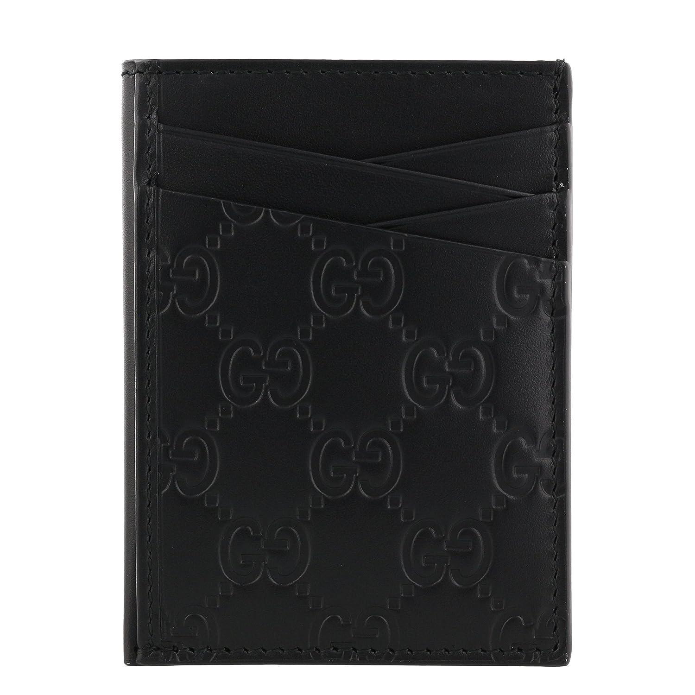 グッチ カードケース メンズ ブラック 495015 CWC1R 1000 [並行輸入品] B07DJBR7Z2